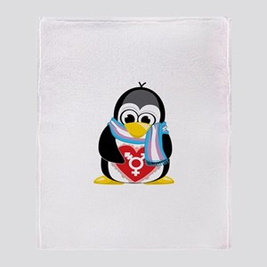 Transgender Penguin Throw Blanket