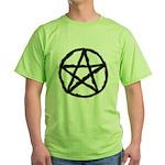 Pentagram Black Tee Green T-Shirt