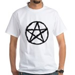 Pentagram Black Tee White T-Shirt