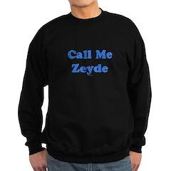 Call Me Zeyde Jewish Sweatshirt (dark)
