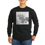 Save the Manatee (No Text) Long Sleeve Dark T-Shir
