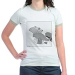 Save the Manatee (No Text) Jr. Ringer T-Shirt