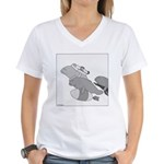 Save the Manatee (No Text) Women's V-Neck T-Shirt