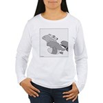 Save the Manatee (No Text) Women's Long Sleeve T-S