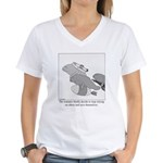 Save the Manatee Women's V-Neck T-Shirt