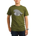 Manatee Bomb Organic Men's T-Shirt (dark)