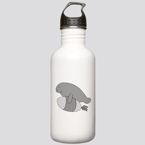 Manatee Bomb Stainless Water Bottle 1.0L
