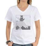 Sheep in Wolf's Clothing (No Text) Women's V-Neck
