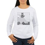 Sheep in Wolf's Clothing (No Text) Women's Long Sl