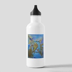 Yellow warbler, song bird, art, Stainless Water Bo