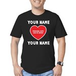 Personal Love Gift Men's Fitted T-Shirt (dark)