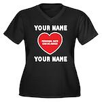 Personal Love Gift Women's Plus Size V-Neck Dark T