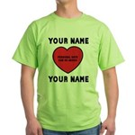Personal Love Gift Green T-Shirt