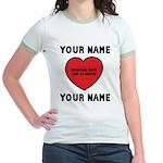 Personal Love Gift Jr. Ringer T-Shirt