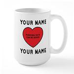 Personal Love Gift Large Mug