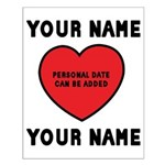 Personal Love Gift Small Poster