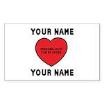 Personal Love Gift Sticker (Rectangle 10 pk)