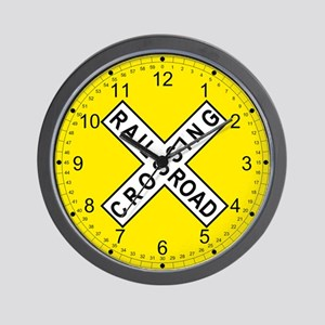 Railroad Crossing Wall Clock