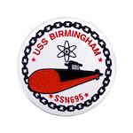 "USS BIRMINGHAM 3.5"" Button"