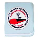 USS BIRMINGHAM baby blanket