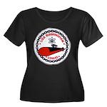 USS BIRMINGHAM Women's Plus Size Scoop Neck Dark T