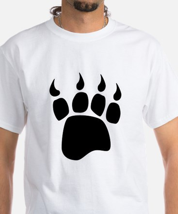 Bear paw White T-Shirt