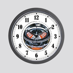 4 Barrel 340 Engine Wall Clock