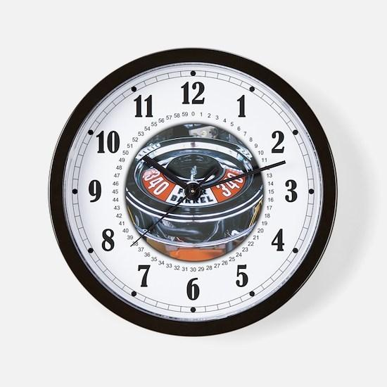 4 Barrel 340 Engine Wall Clock