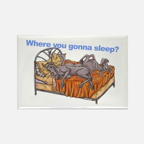 NC Blu Where you gonna sleep Rectangle Magnet