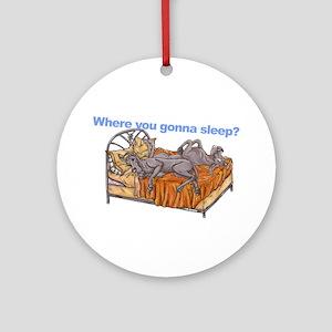 NC Blu Where you gonna sleep Ornament (Round)