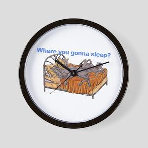 NC Blu Where you gonna sleep Wall Clock