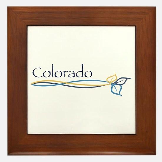 Colorado/Aspen Tree Branch Framed Tile