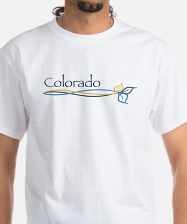 Colorado/Aspen tree branch White T-Shirt