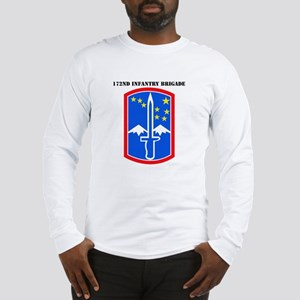 SSI-172nd Infantry Brigade with text Long Sleeve T