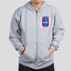 SSI-172nd Infantry Brigade with text Zip Hoodie