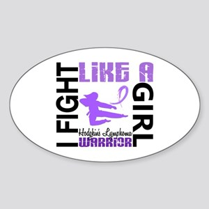 Licensed Fight Like a Girl 3.2 H Ly Sticker (Oval)