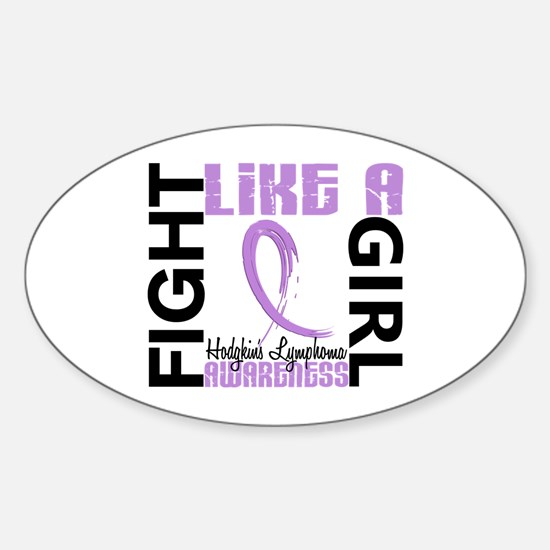 Licensed Fight Like a Girl 3.3 H Ly Sticker (Oval)
