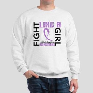 Licensed Fight Like a Girl 3.3 H Lympho Sweatshirt