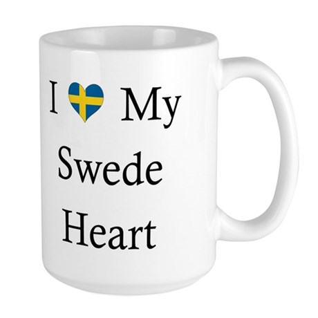 Love Swede Heart Large Mug