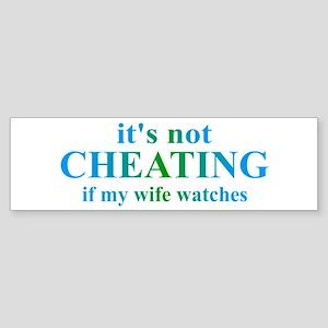 Wife Watches... Sticker (Bumper)