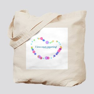 I love court reporting Tote Bag