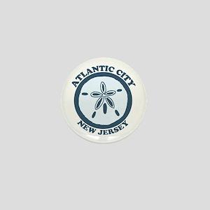 Atlantic City NJ - Sand Dollar Design Mini Button
