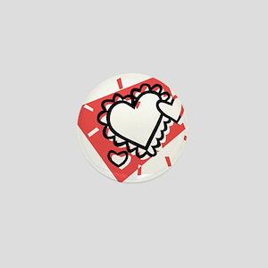 HEARTS {27} : pink Mini Button