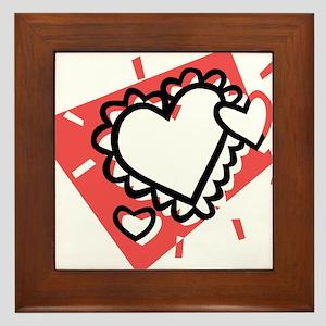 HEARTS {27} : pink Framed Tile