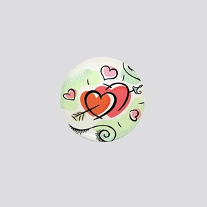 HEARTS & ARROW {15} Mini Button