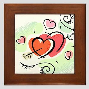 HEARTS & ARROW {15} Framed Tile