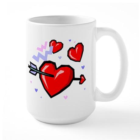 HEARTS & ARROW {16} Large Mug