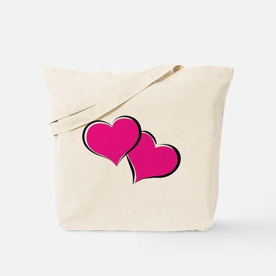 HEARTS {30} : hot pink Tote Bag