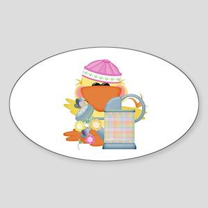 Baby Quackups 2 Oval Sticker
