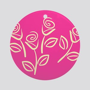 ROSES {22} : pink Ornament (Round)